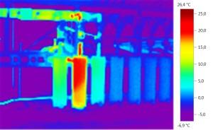 termografia confronto collettori biogas discarica
